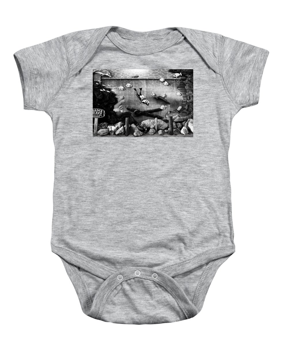 Fine Art Photography Baby Onesie featuring the photograph Old Trader Rickys by David Lee Thompson