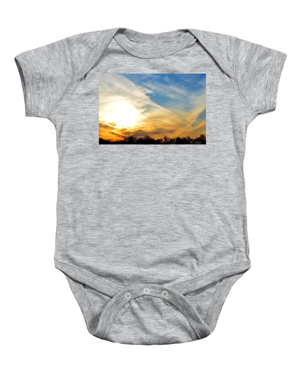 Eagle Baby Onesie featuring the photograph On Eagle's Wings - 2 by Maria Urso