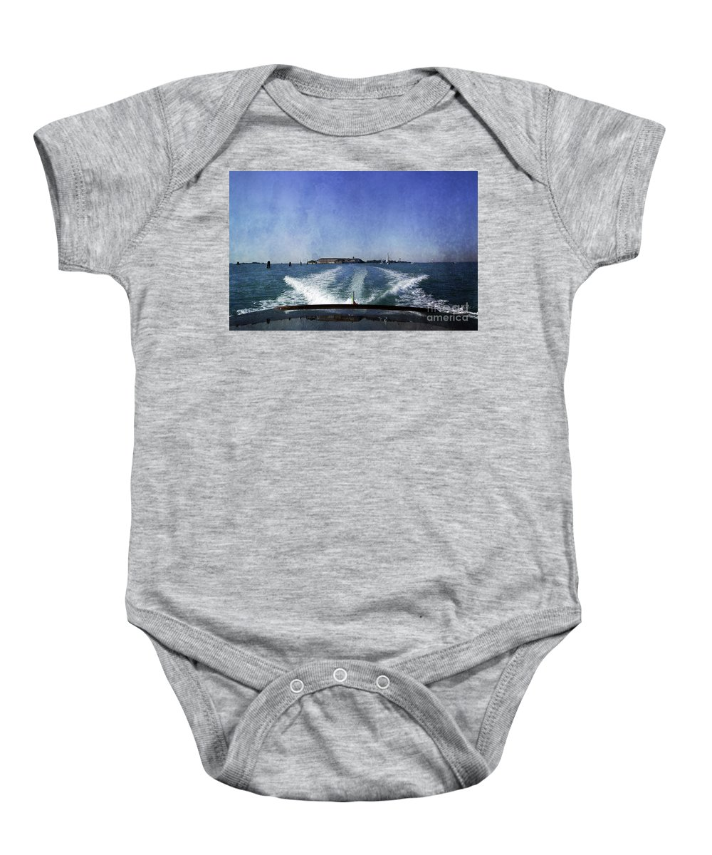 Venice Baby Onesie featuring the photograph On The Water 5 - Venice by Madeline Ellis