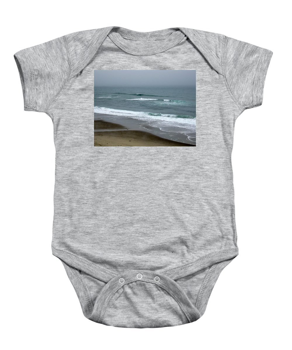Oregon Baby Onesie featuring the photograph Oregon Coast by Linda Hutchins