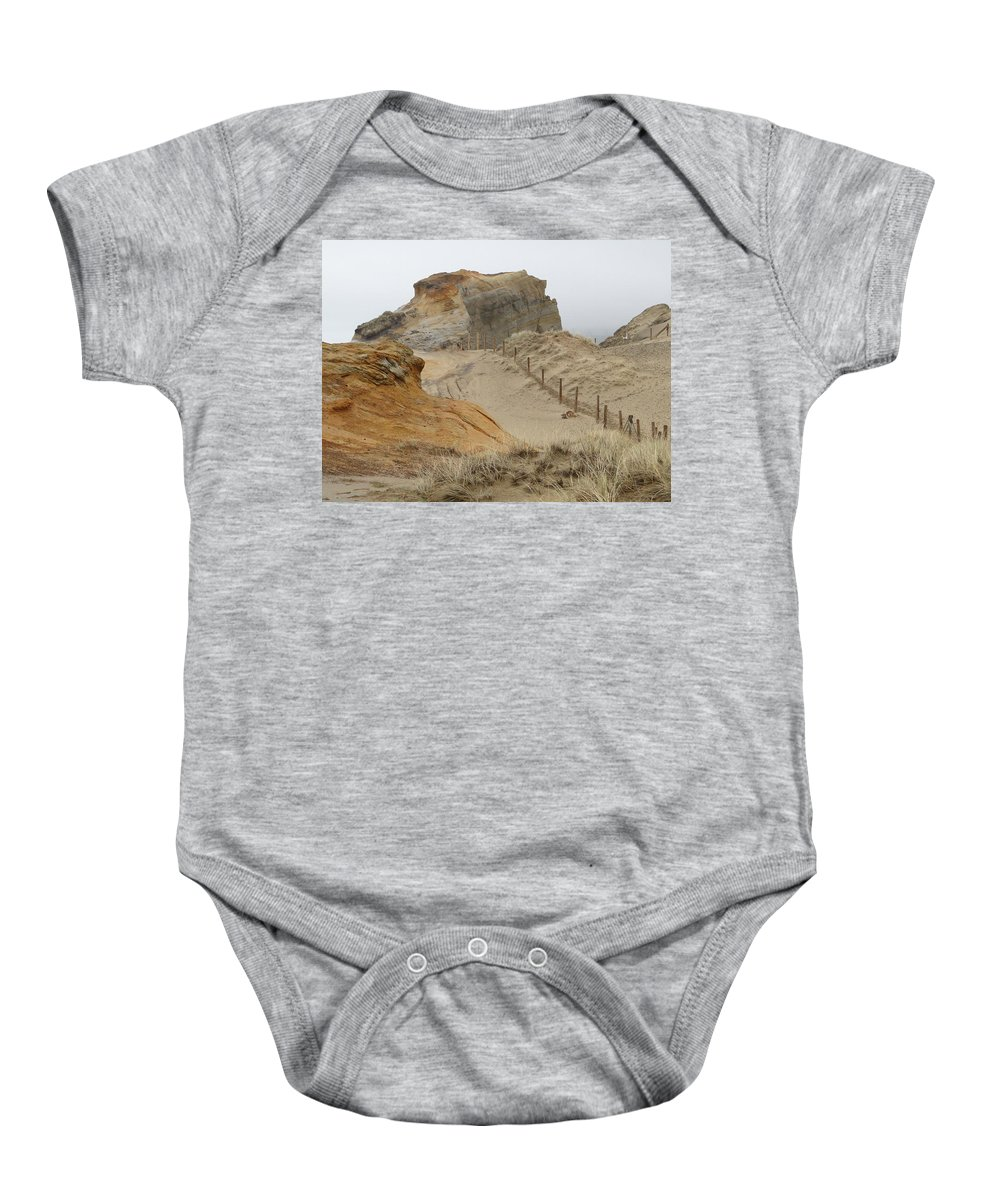 Sand Dunes Baby Onesie featuring the photograph Oregon Sand Dunes by Athena Mckinzie