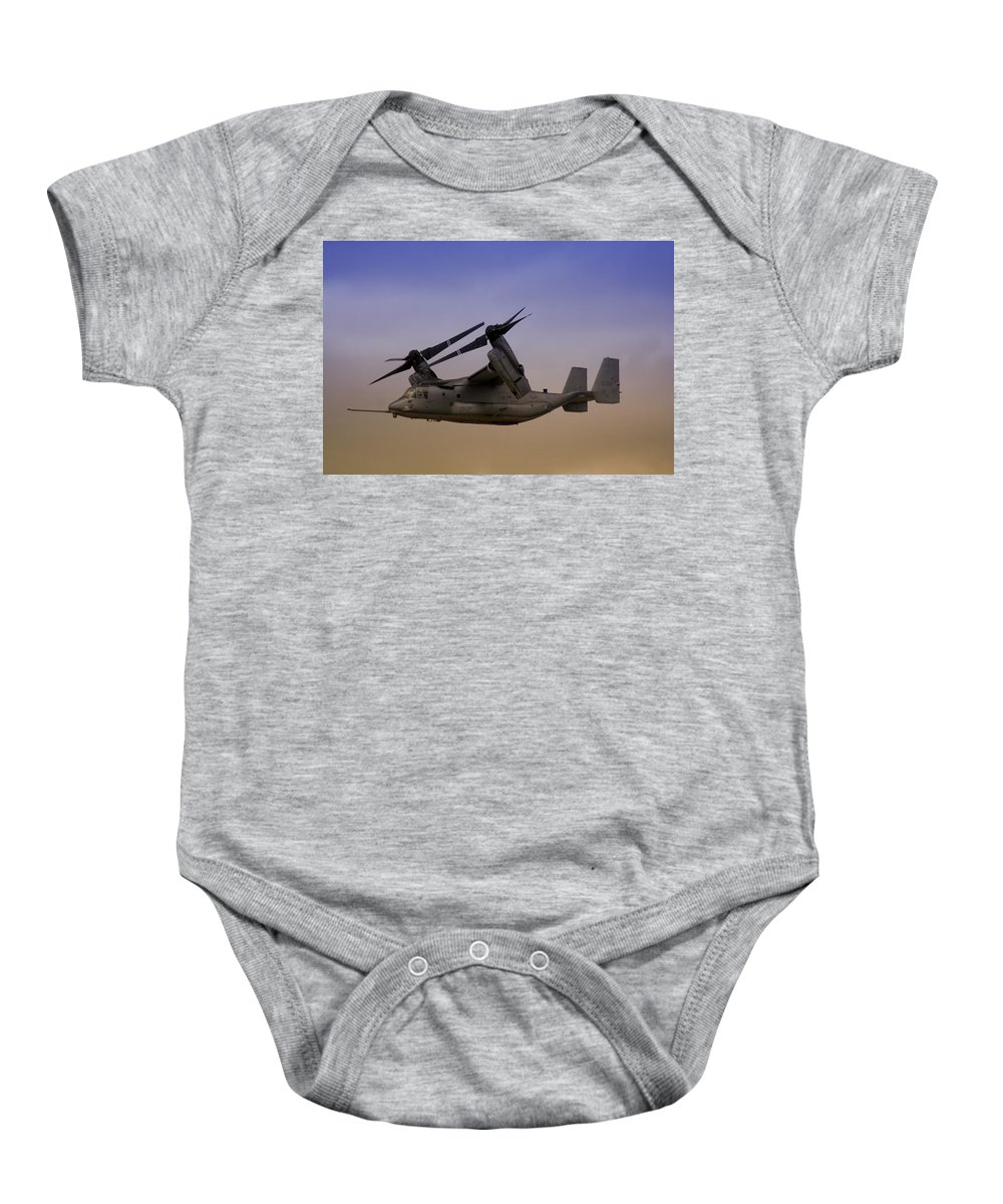 Advanced Baby Onesie featuring the photograph Osprey In Flight II by Ricky Barnard