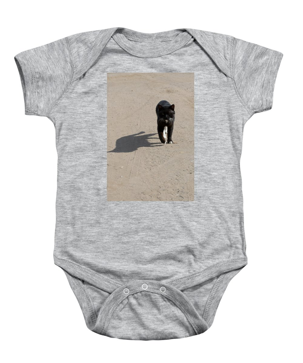 Cat Baby Onesie featuring the photograph Owner by Michael Goyberg