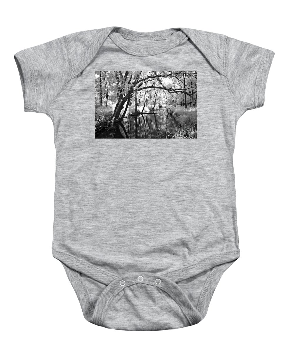 Infrared Baby Onesie featuring the photograph Pa. Country Stream by Paul W Faust - Impressions of Light