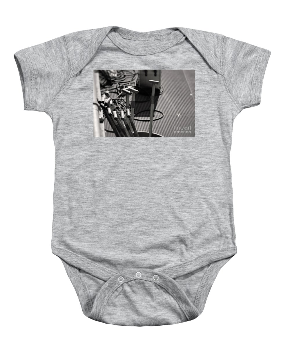 Dragon Boat Races Baby Onesie featuring the photograph Paddles by Traci Cottingham