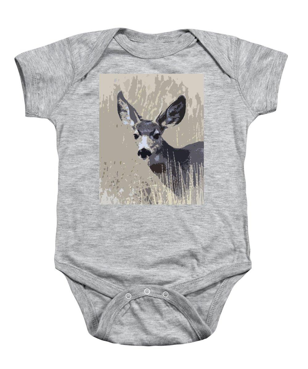 Wildlife Baby Onesie featuring the photograph Painted Muley by Steve McKinzie