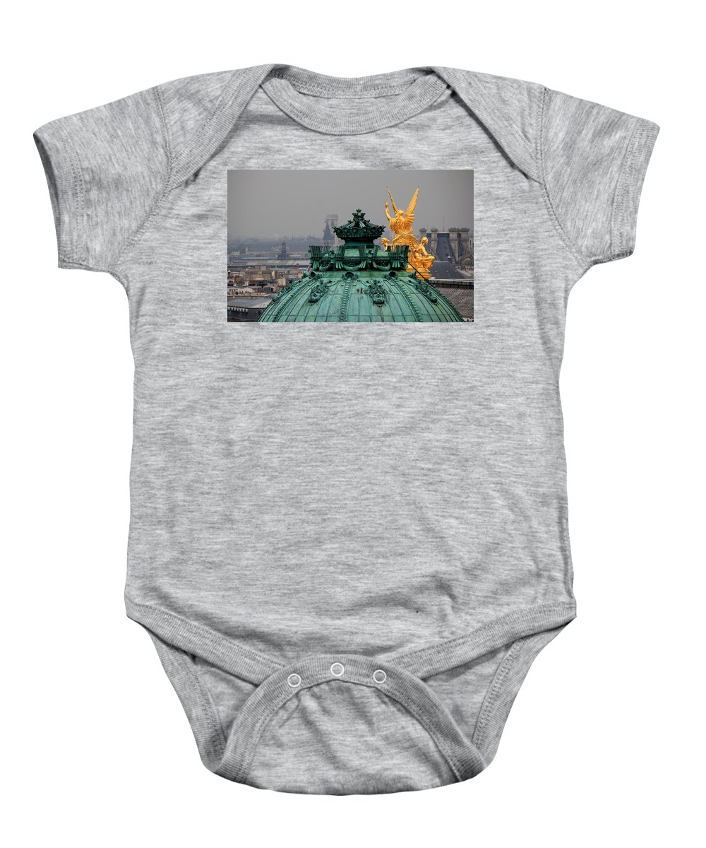 Paris Baby Onesie featuring the photograph Paris Rooftops 1 by Andrew Fare