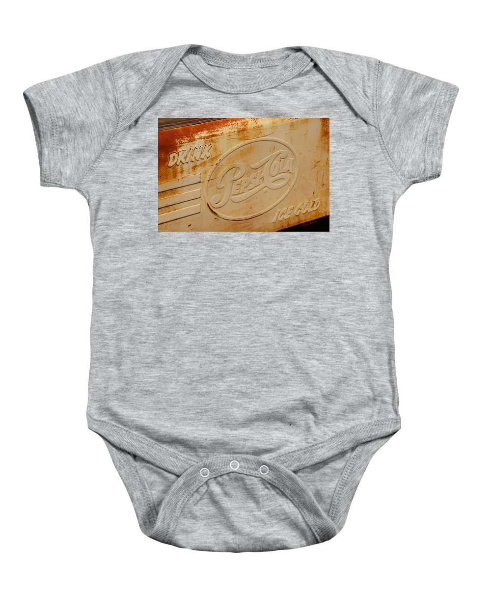 Pepsi Baby Onesie featuring the photograph Pepsi Cola Remembered by Mick Anderson