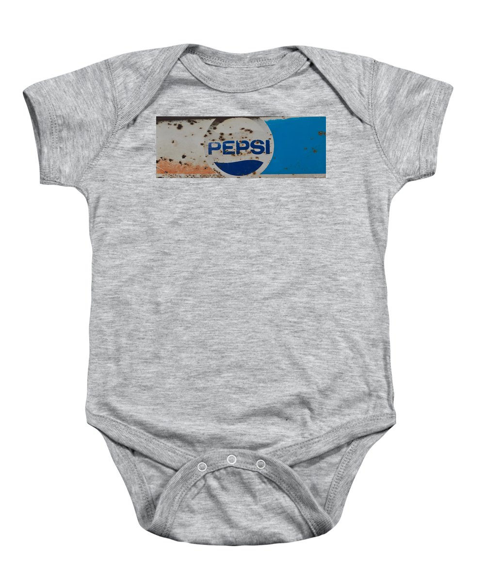 Pepsi Baby Onesie featuring the photograph Pepsi Old Style by Heidi Smith