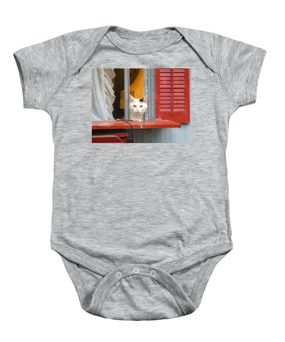 Pet Photography Baby Onesie featuring the photograph Pika Boo by Lingfai Leung