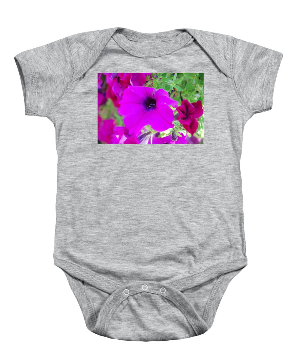 Pink Baby Onesie featuring the photograph Pink Petals by Michael Merry