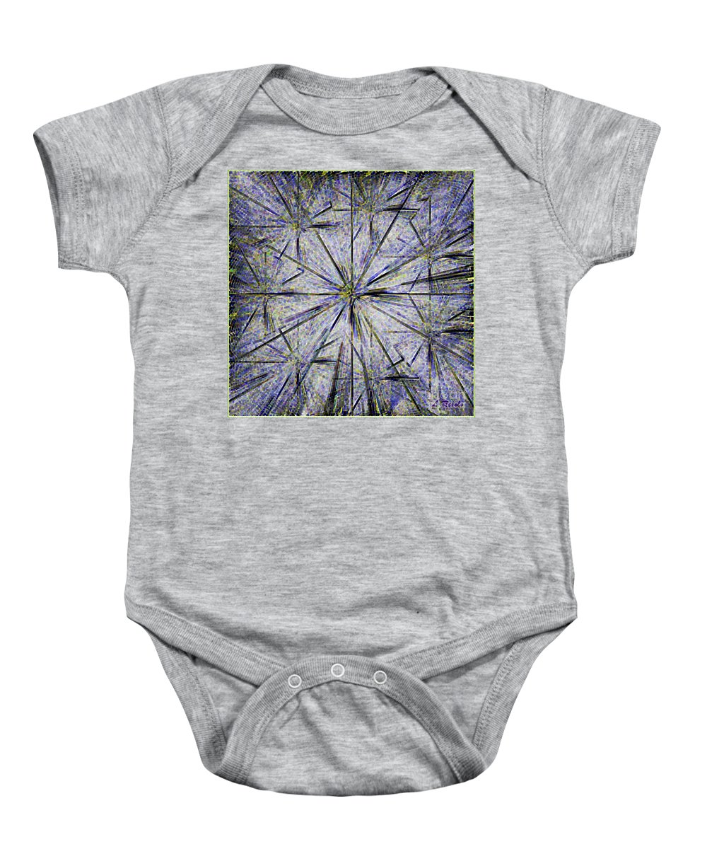 Digital Baby Onesie featuring the digital art Pins And Needles by Leslie Revels