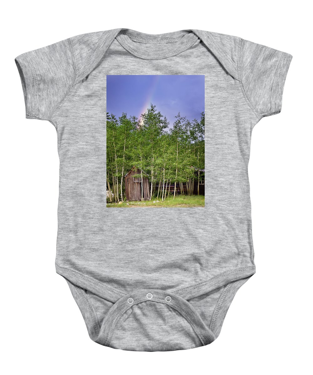 Colorado Baby Onesie featuring the photograph Pot Of Gold by Beth Riser
