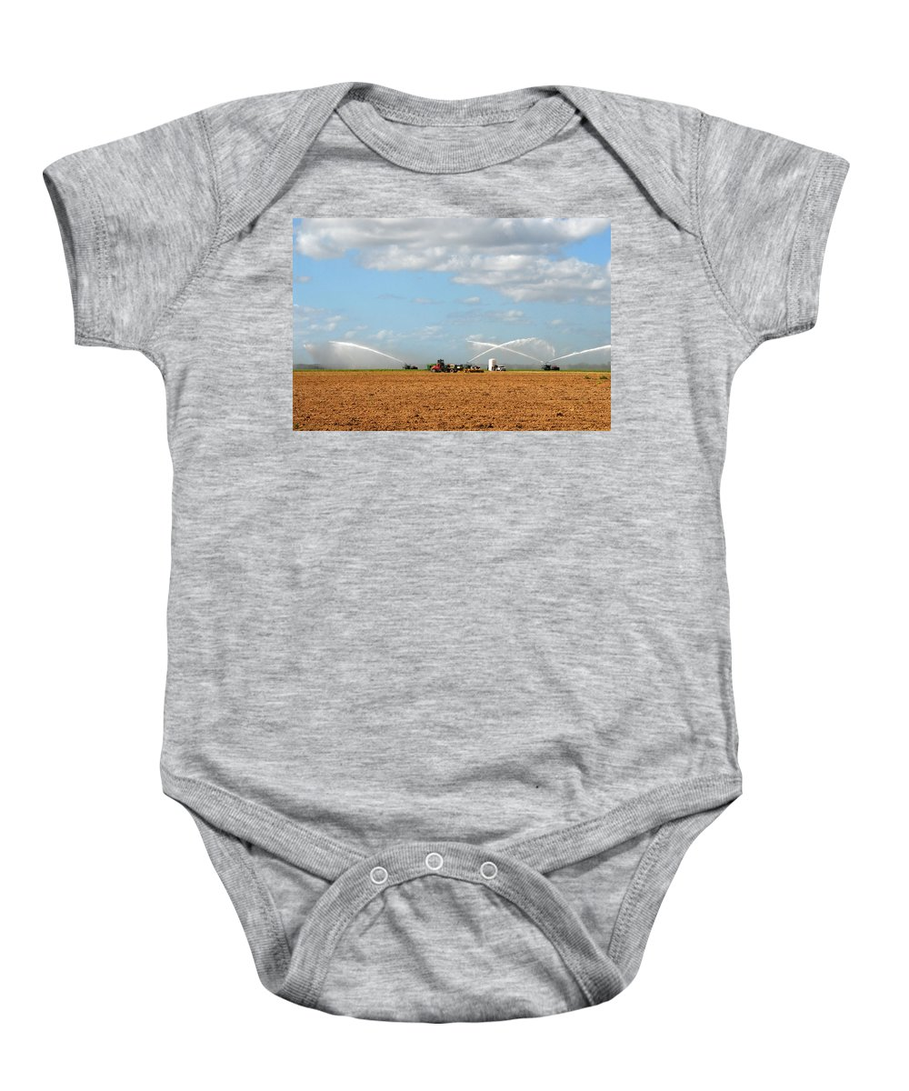 Fine Art Photography Baby Onesie featuring the photograph Prepairing The Land by David Lee Thompson