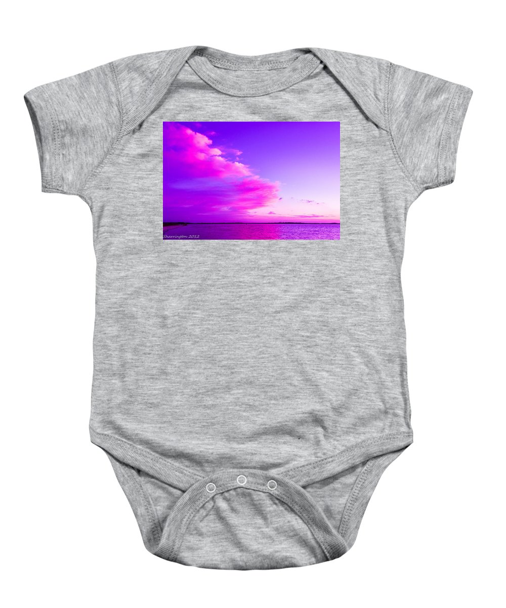 Pink Baby Onesie featuring the photograph Purple And Pink by Shannon Harrington