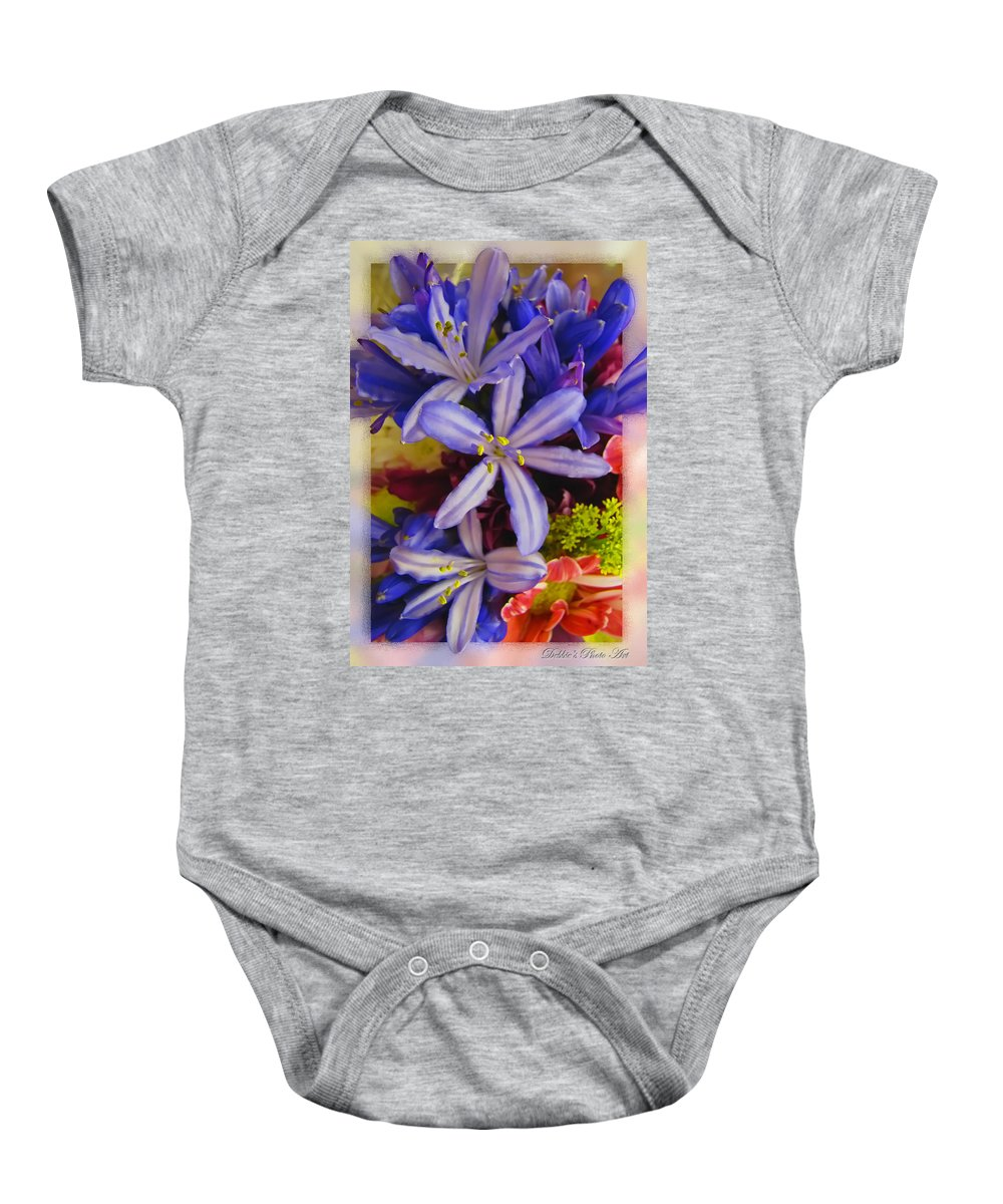 Nature Baby Onesie featuring the photograph Purple Stars by Debbie Portwood