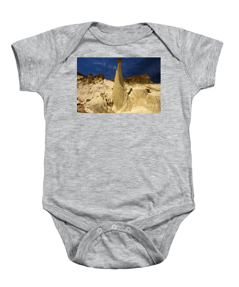 Wahweap Hoodoos Baby Onesie featuring the photograph Queen Of Wahweap by Adam Jewell