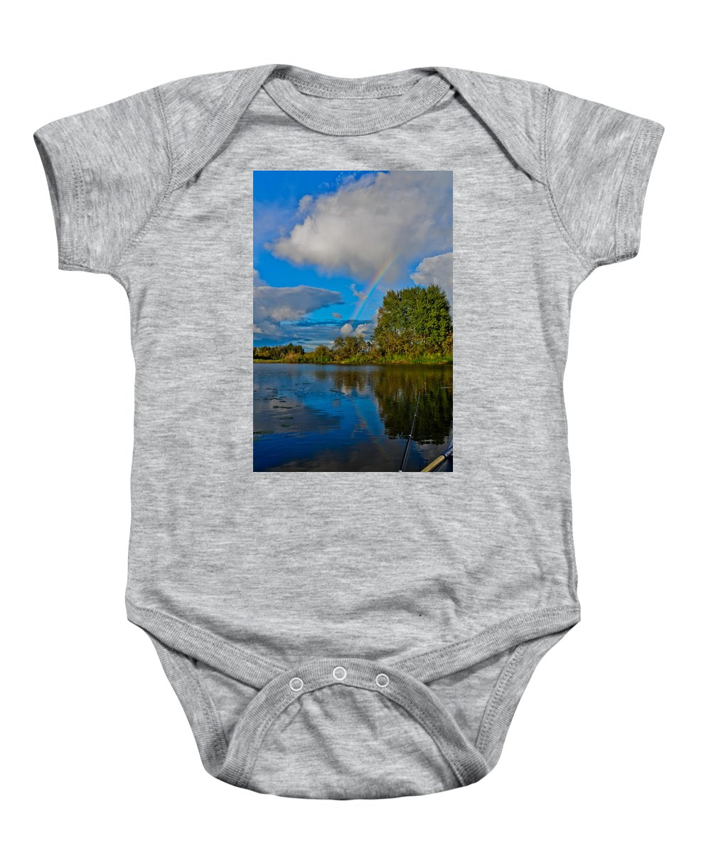 Like Baby Onesie featuring the photograph Rainbow by Michael Goyberg