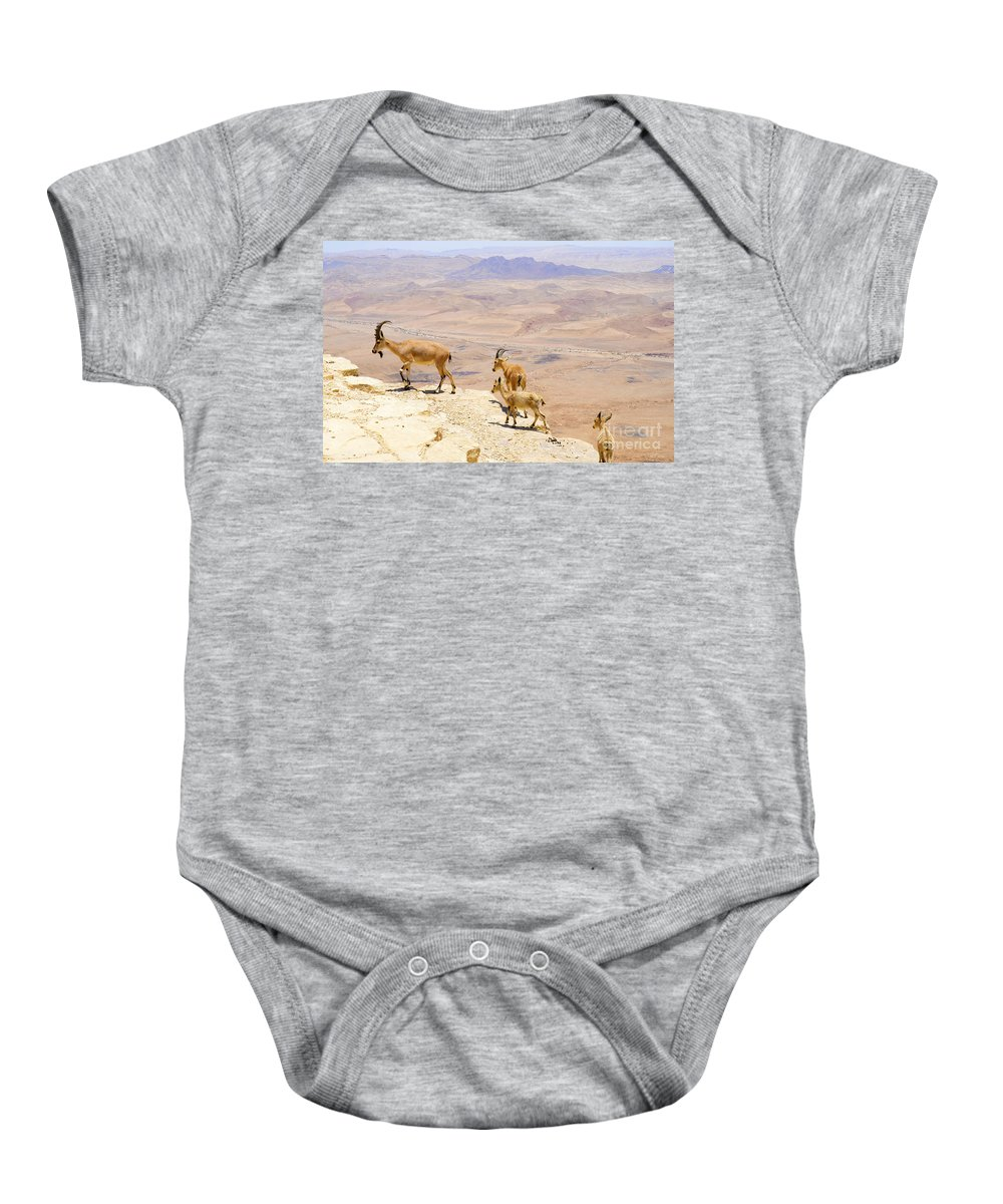 Ramon Baby Onesie featuring the photograph Ramon Crater Negev Israel by Amir Paz