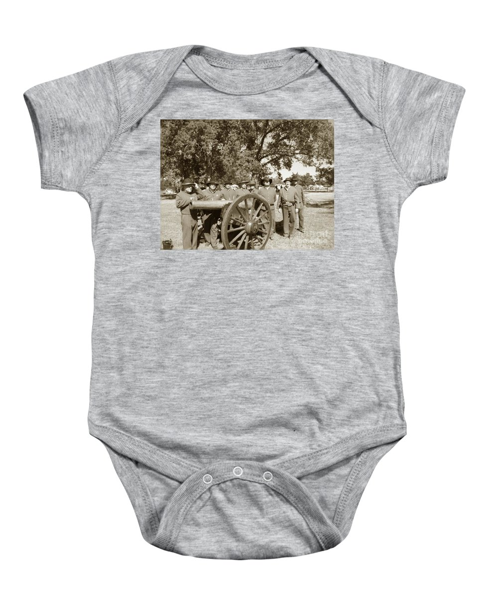 Olden Baby Onesie featuring the photograph Ready For Battle by Charleen Treasures