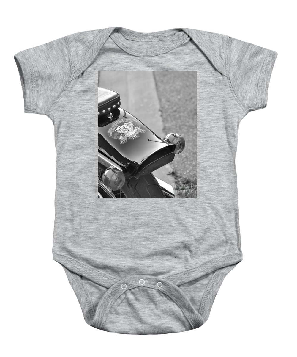 Motorcycle Baby Onesie featuring the photograph Rear View by Traci Cottingham
