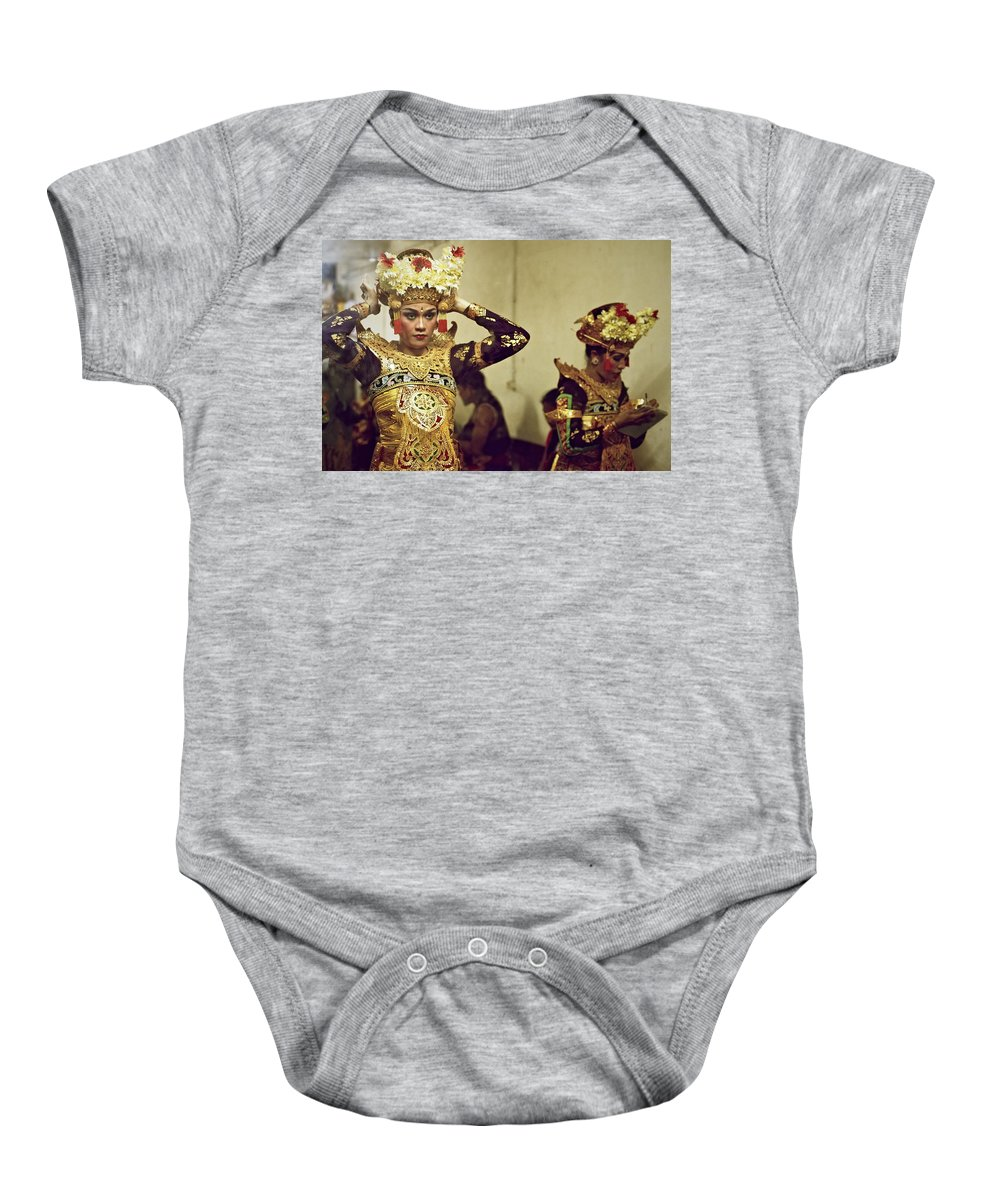 Reflections Baby Onesie featuring the photograph Reflection Of A Kecak Dancer by Valerie Rosen