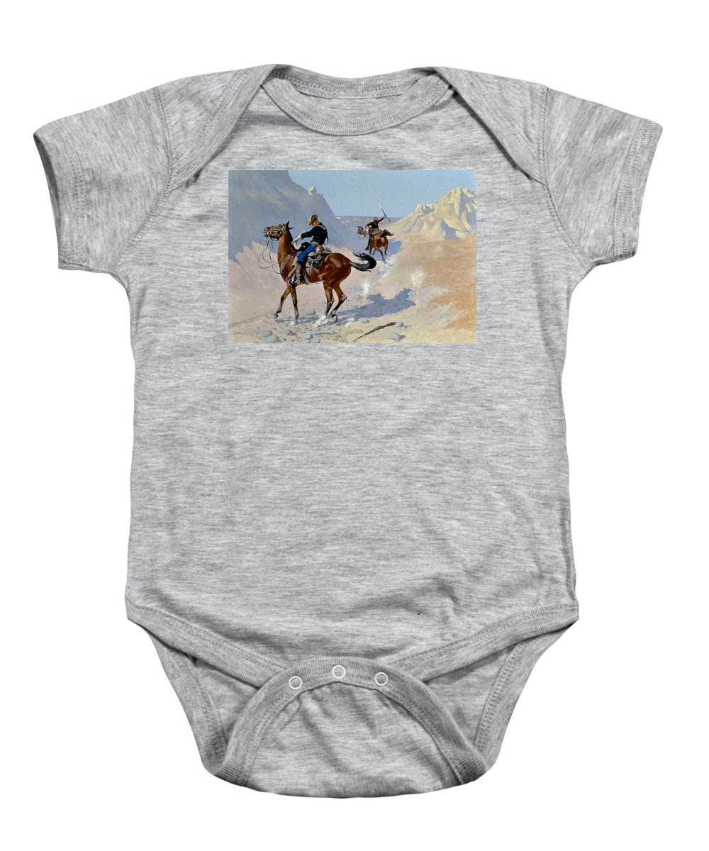 19th Century Baby Onesie featuring the photograph Remington: Guard, 1890 by Granger