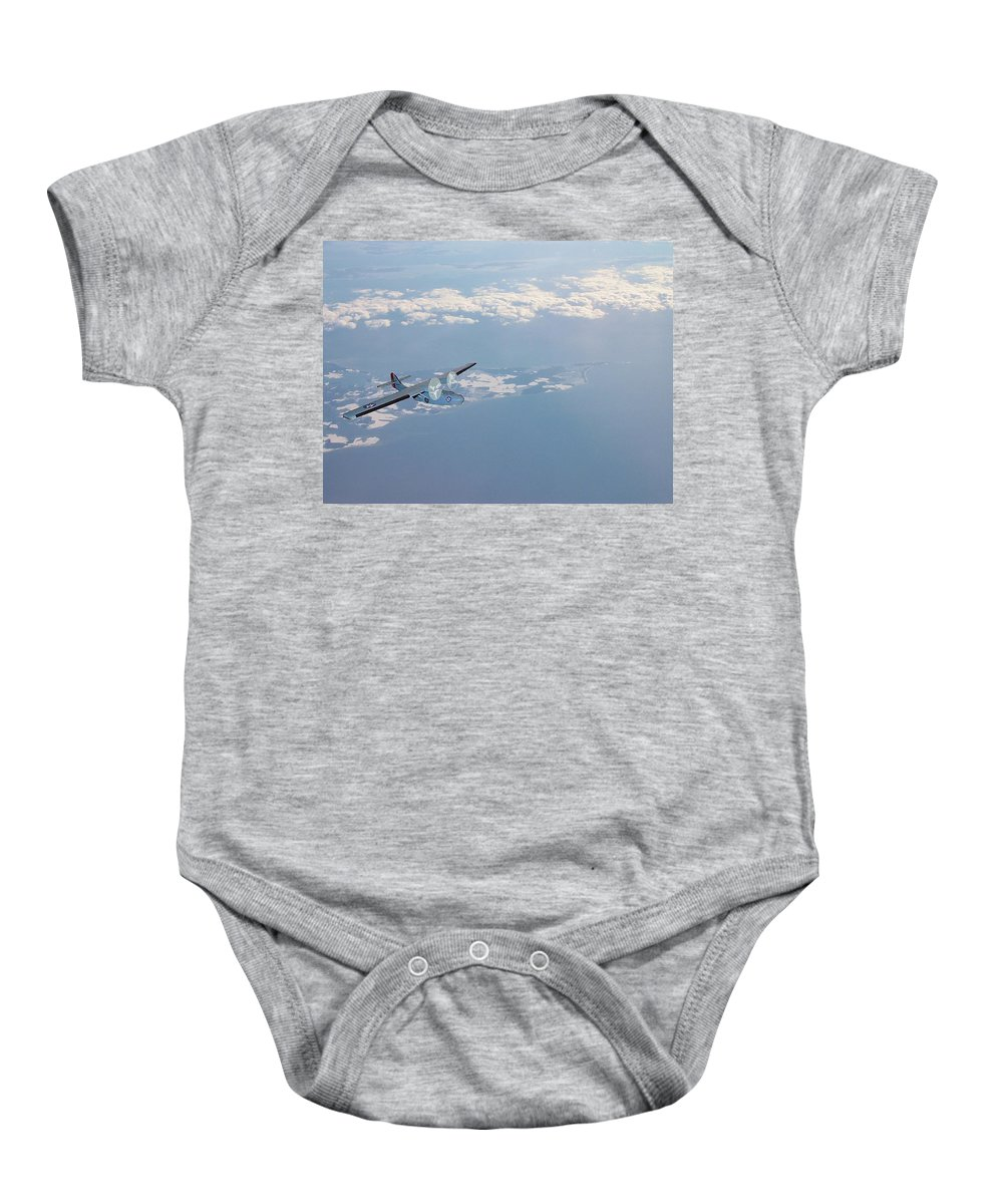 Airplane Baby Onesie featuring the digital art Rescue 1 by Lin Grosvenor