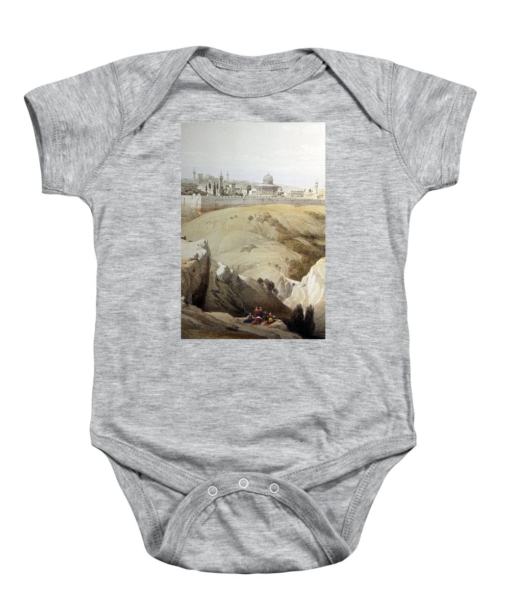 Jerusalem Baby Onesie featuring the photograph Resting Near Jerusalem by Munir Alawi