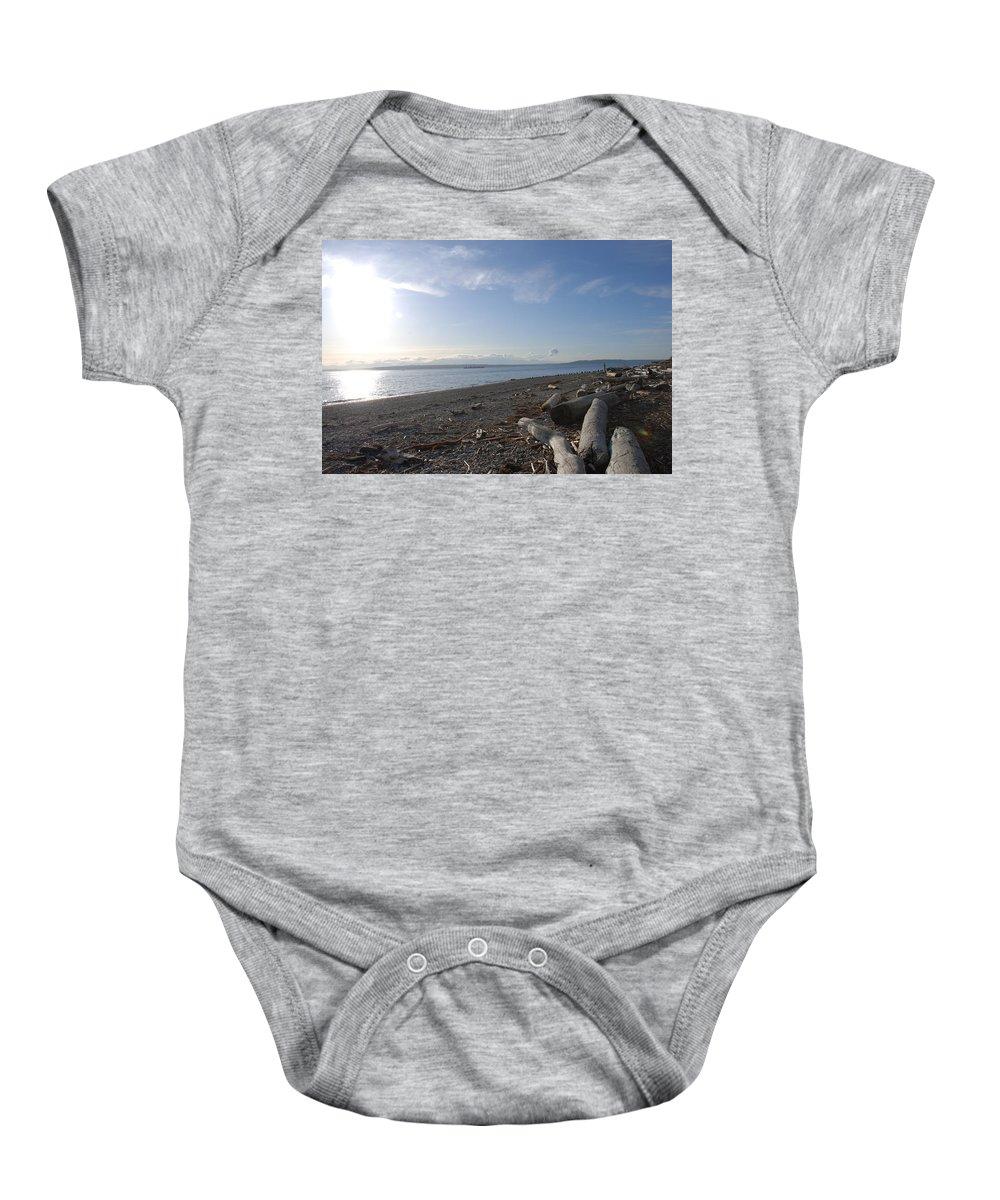 Beach Baby Onesie featuring the photograph Richmond Beach by Michael Merry