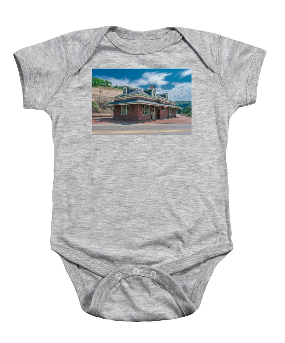 Guy Whiteley Photography Baby Onesie featuring the photograph Ridgway Depot 16744 by Guy Whiteley