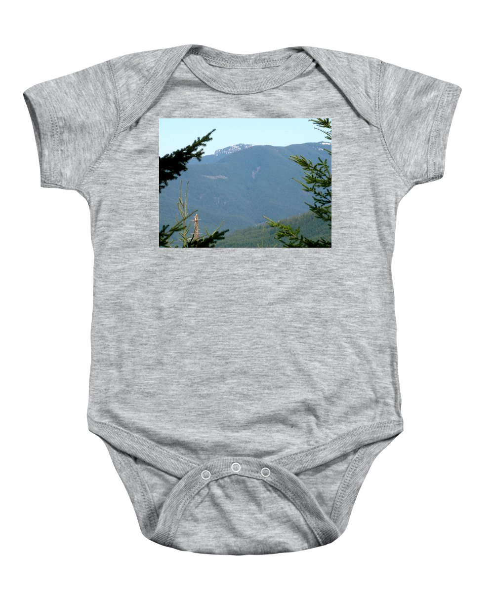 Rock Formation Baby Onesie featuring the photograph Rock Formation On The Ridge by Linda Hutchins