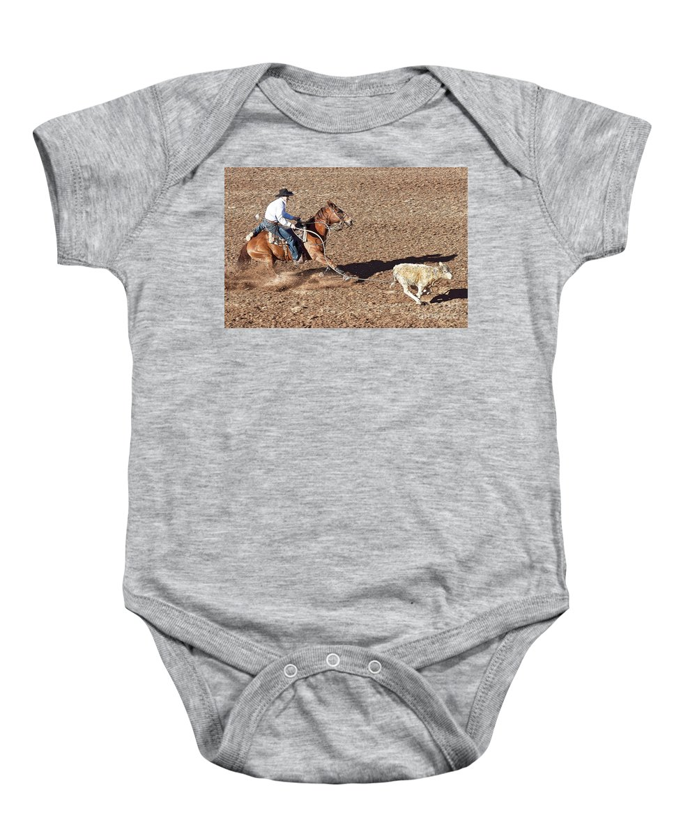 Rodeo Baby Onesie featuring the photograph Rodeo 21 by Larry White
