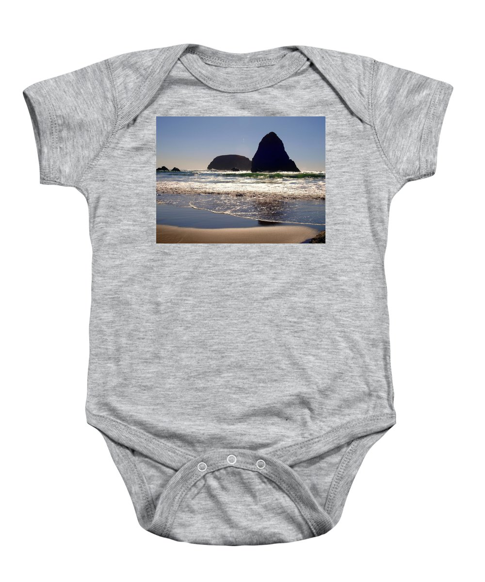 Water Baby Onesie featuring the photograph Rolling In The Green by Teri Schuster