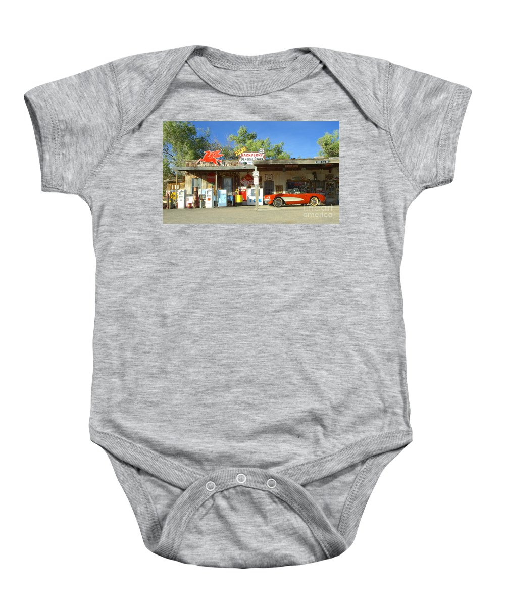 Classic Car Baby Onesie featuring the photograph Route 66 Hackberry Arizona by Bob Christopher