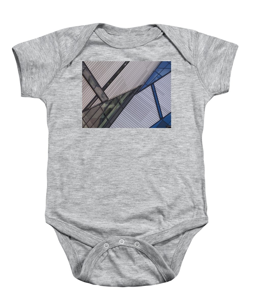 Abstract Design Baby Onesie featuring the photograph Royal Ontario Museum, Toronto, Ontario by Keith Levit