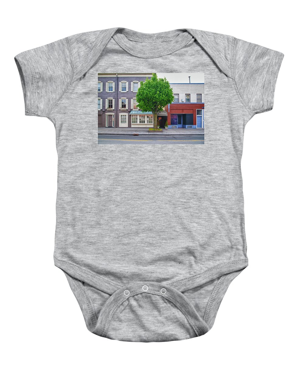 Architecture Baby Onesie featuring the photograph Rue Franklin by Guy Whiteley