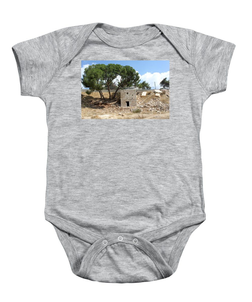 Bethlehem Baby Onesie featuring the photograph Ruined Castle by Munir Alawi