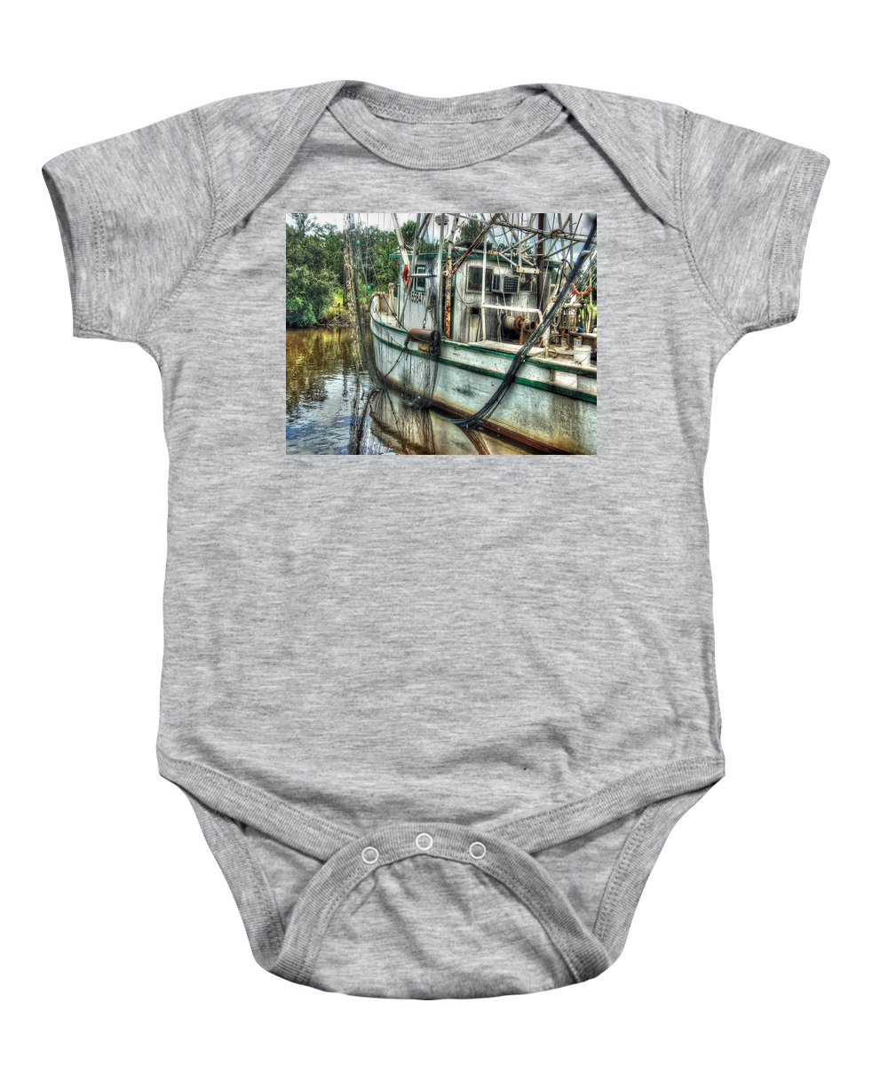 Alabama Photographer Baby Onesie featuring the digital art Safe Harbor Lil Arthur by Michael Thomas