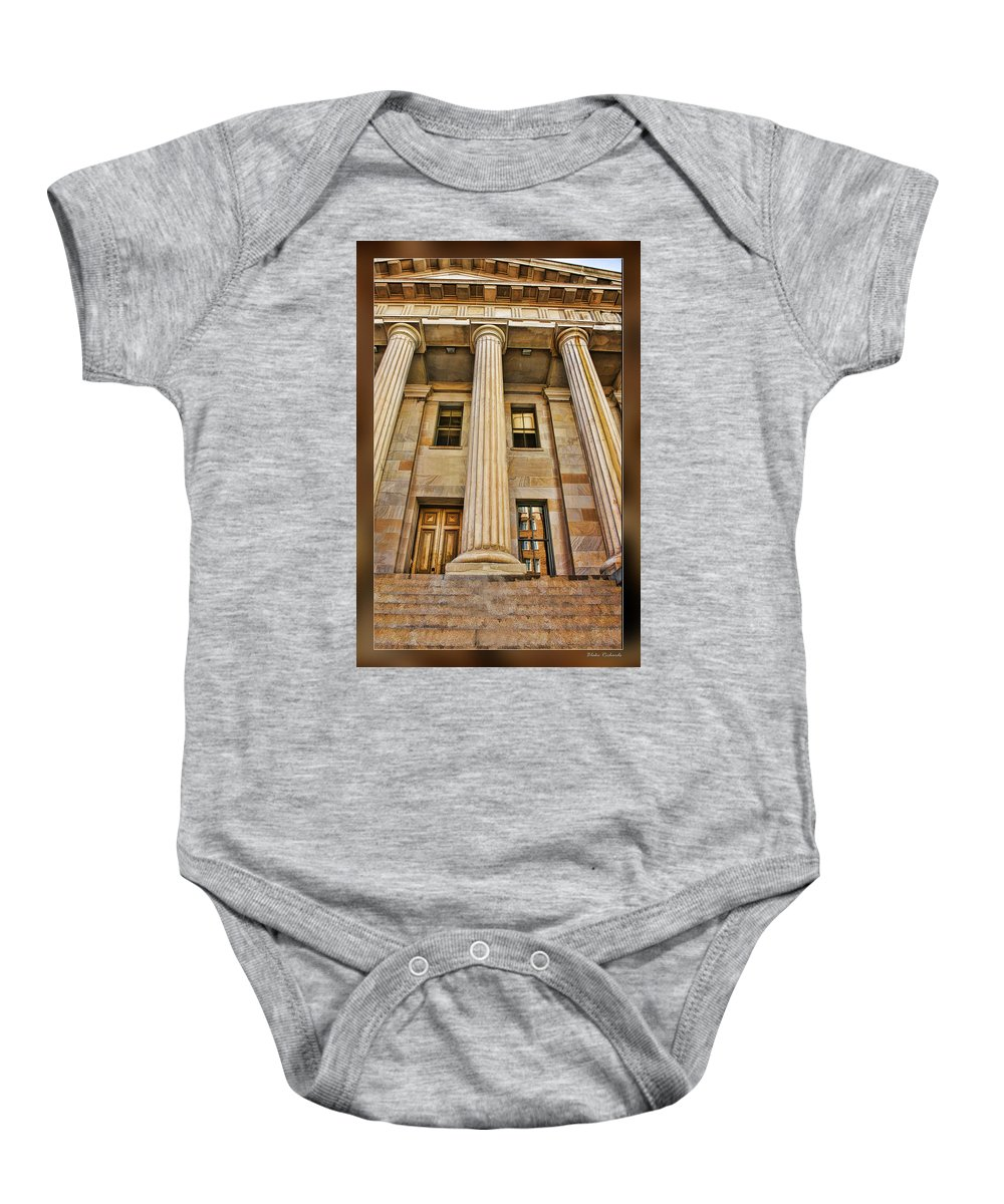 Art Photography Baby Onesie featuring the photograph San Francisco Mint Building by Blake Richards