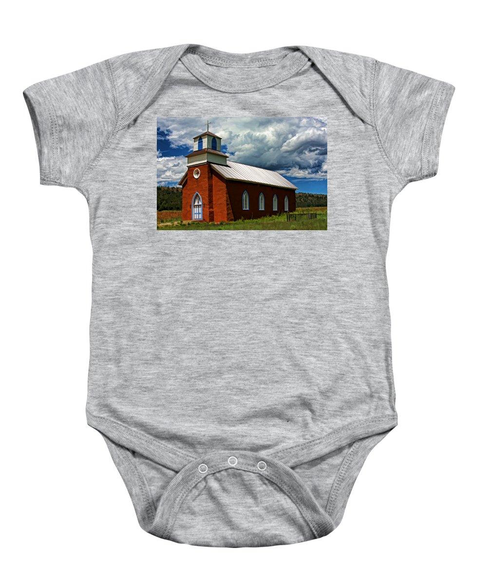 Church Baby Onesie featuring the photograph San Rafael by David Sanchez