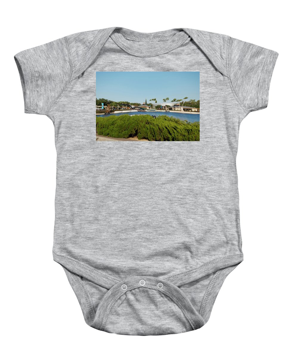 Digital Art Baby Onesie featuring the photograph Sea Gull Checking Me Out Digital Art by Thomas Woolworth