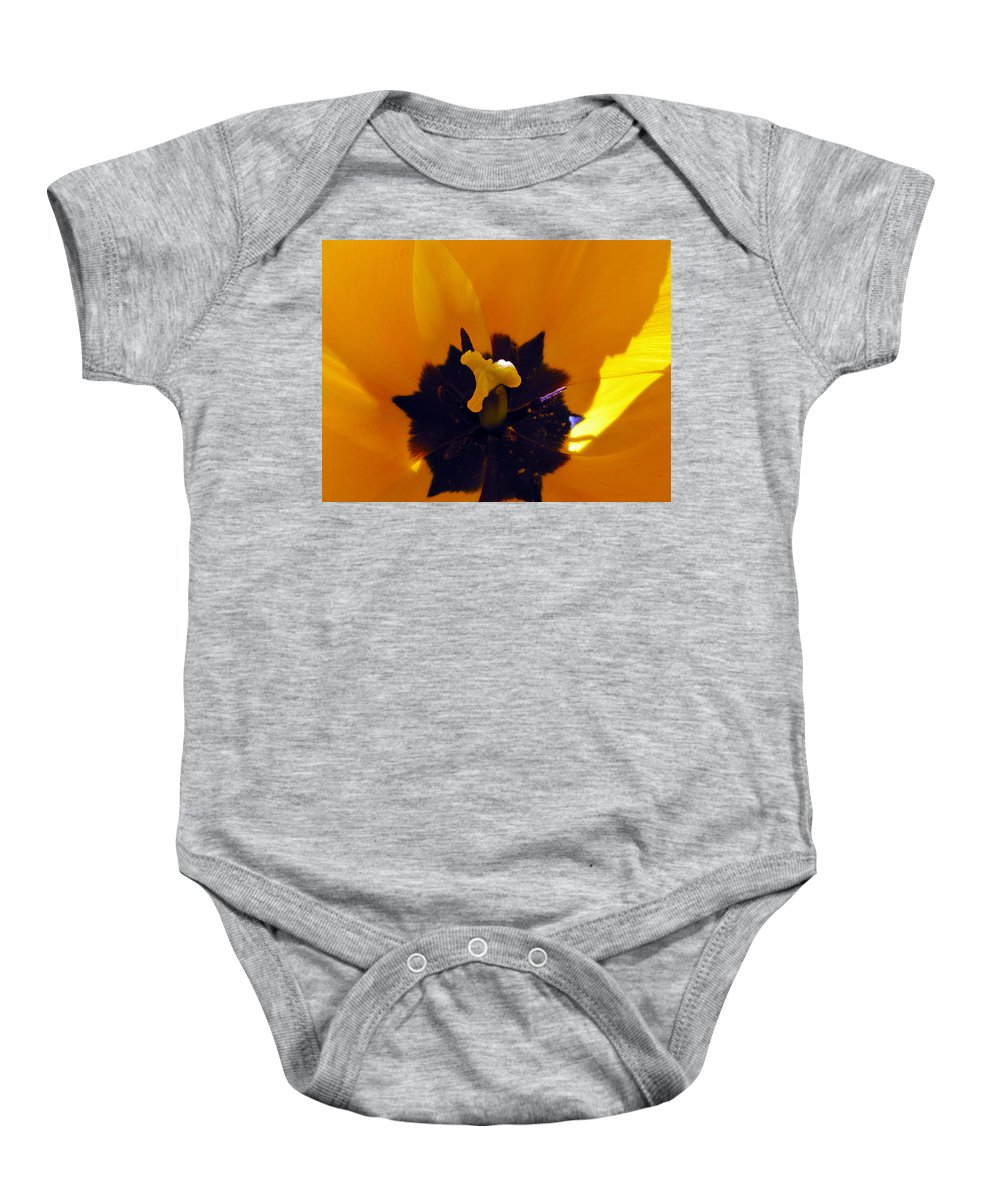 Yellow Baby Onesie featuring the photograph Secret Place by Tikvah's Hope