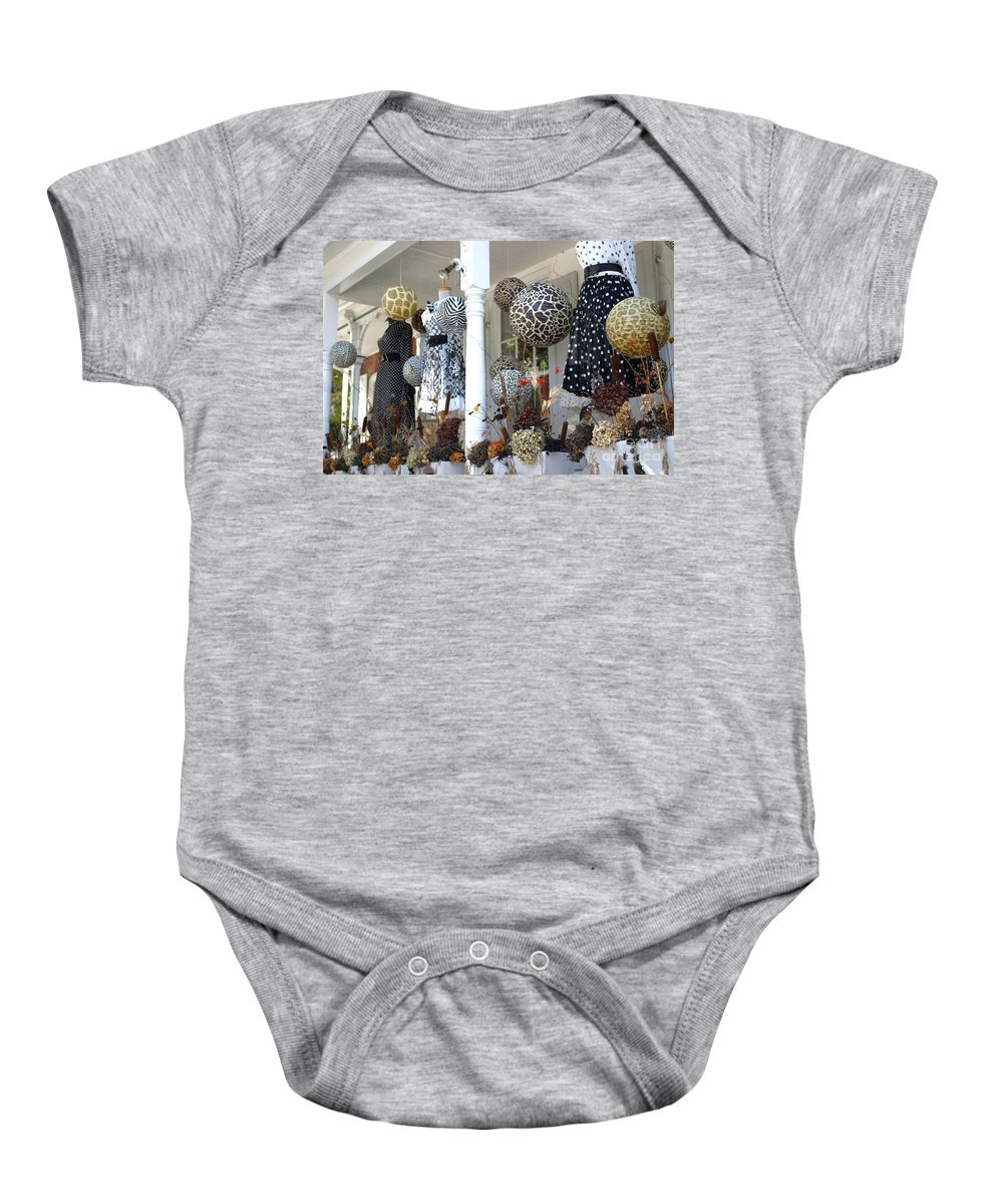 Porch Baby Onesie featuring the photograph Shabby Chic by Living Color Photography Lorraine Lynch