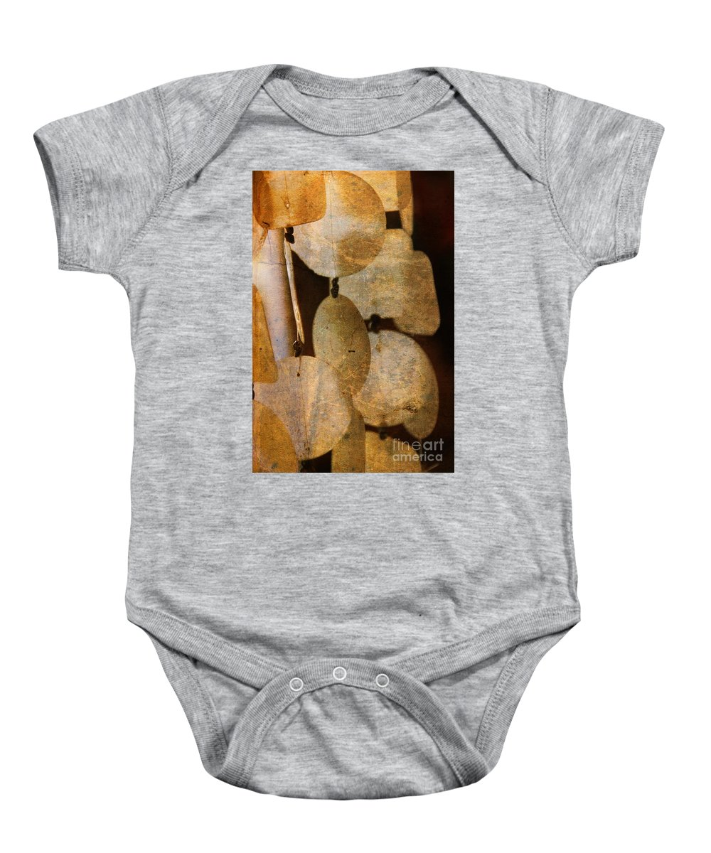 Shell Baby Onesie featuring the photograph Shell Wind Chimes by Susanne Van Hulst