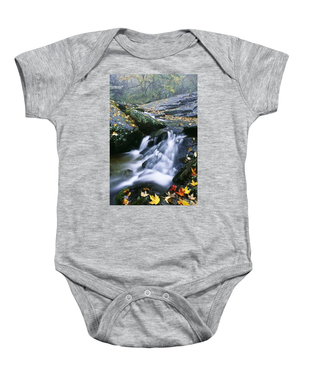 Autumn Colors Baby Onesie featuring the photograph Shenandoah National Park by Bilderbuch