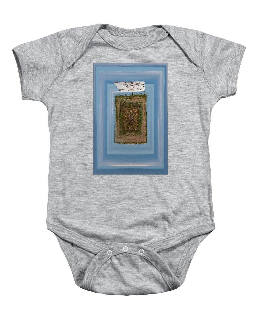 Gulf Of Bothnia Baby Onesie featuring the photograph Signmark by Jouko Lehto