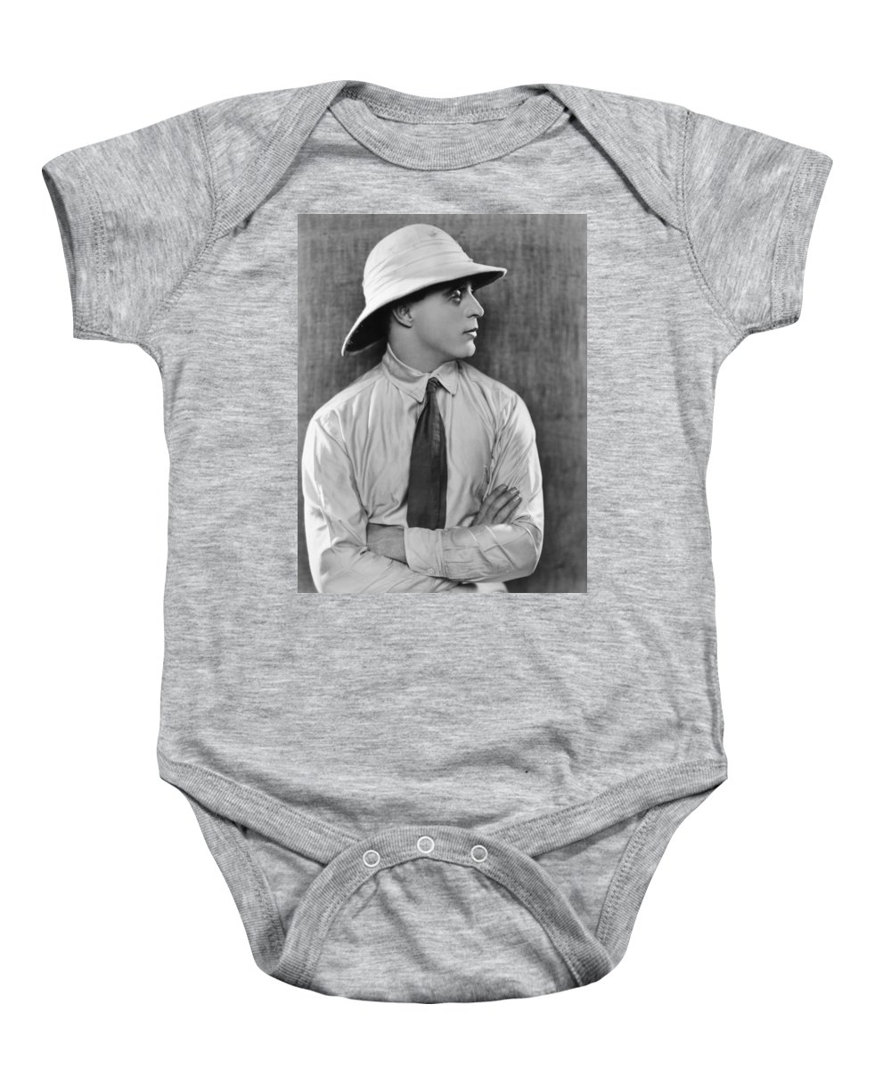 Early Baby Onesie featuring the photograph Silent Film: Mens Fashion by Granger