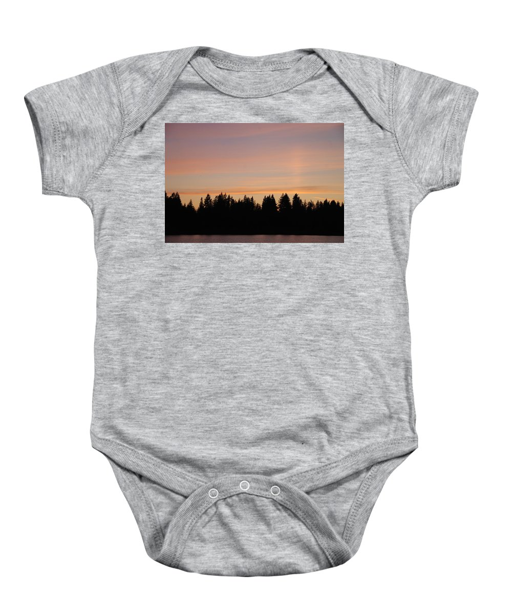Sunset Baby Onesie featuring the photograph Silver Lake Sunset by Michael Merry
