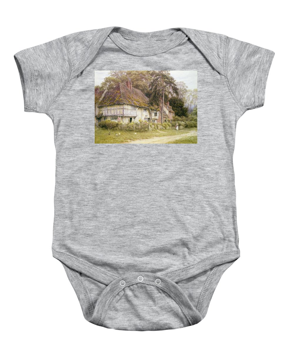 House Baby Onesie featuring the painting Six Bells Hollingbourne Kent by Helen Allingham